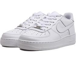online retailer 58ab6 08700 Buty sportowe damskie białe Nike sneakersy air force gładkie wiązane na  koturnie