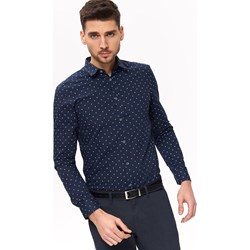 081425571a9c90 Granatowe koszule męskie, lato 2019 w Domodi