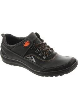 Męskie buty trekkingowe 268 czarne   butyolivier - kod rabatowy