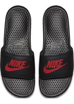 KLAPKI MĘSKIE NIKE BENASSI JDI CZARNE 343880-060 - Czarny  Nike adrenaline.pl - kod rabatowy
