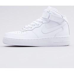 newest deb60 a49bd Buty sportowe damskie białe Nike dla biegaczy air force wiązane gładkie