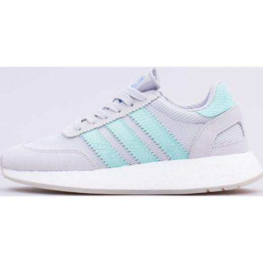 d6776e19 Buty sportowe damskie szare Adidas dla biegaczy płaskie wiązane bez wzorów
