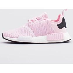 reputable site 58309 6106e Buty sportowe damskie Adidas sneakersy nmd na koturnie bez wzorów różowe  sznurowane