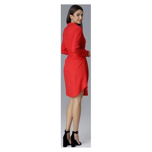 767e4fe687 Sukienka Figl mini trapezowa z długim rękawem na randkę w Domodi