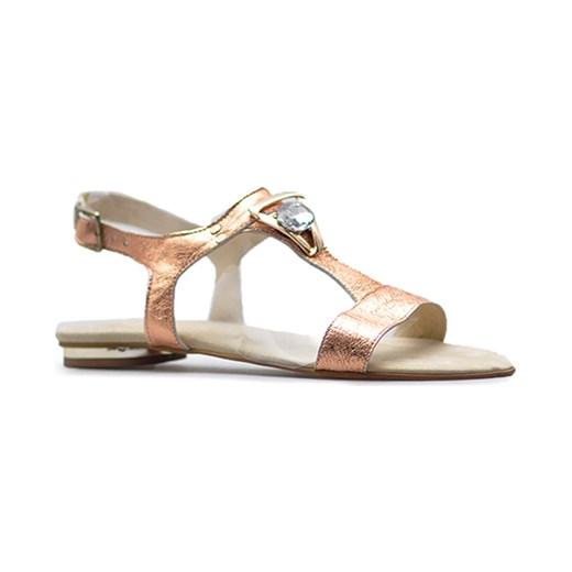 Sandały damskie Di Lusso - Arturo-obuwie Buty Damskie UK złoty Sandały damskie NYNL