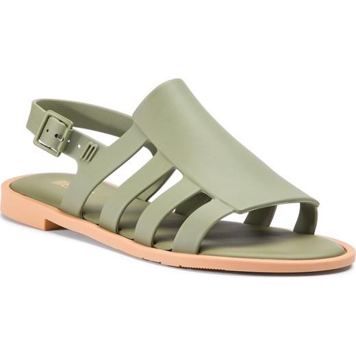 Melissa sandały damskie casual płaskie bez wzorów1 z klamrą Buty Damskie VD zielony Sandały damskie UQOZ