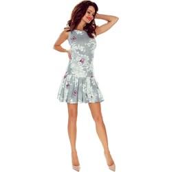 20d0d17b88 Sukienka Bergamo bez rękawów mini z okrągłym dekoltem na sylwestra na wiosnę