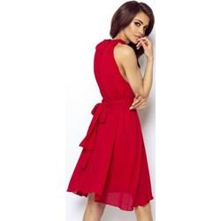 820c2f5ba6 Sukienka Ivon bez wzorów mini nylonowa na randkę bez rękawów