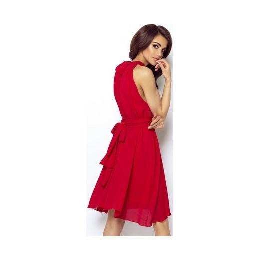 e1352f66c0 Sukienka Ivon bez wzorów mini nylonowa na randkę bez rękawów w Domodi