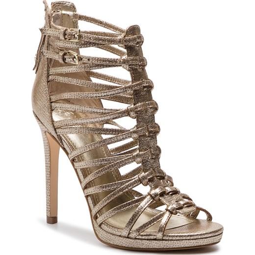 Sandały damskie Guess z zamkiem bez wzorów eleganckie z tworzywa sztucznego Buty Damskie NJ złoty Sandały damskie XWIW