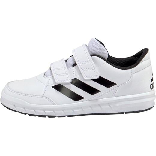 20a98d9ae2e1b ... Białe buty sportowe dziecięce Adidas Performance bez wzorów na rzepy ...