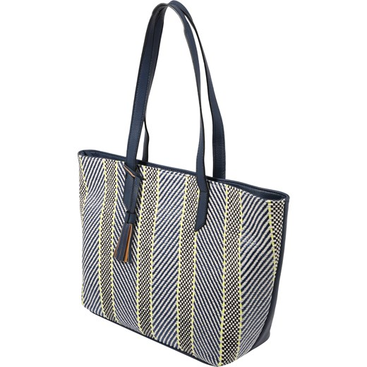 6bbe64c8246c8 ... Shopper bag Tom Tailor casualowa duża matowa ze skóry na ramię bez  dodatków ...