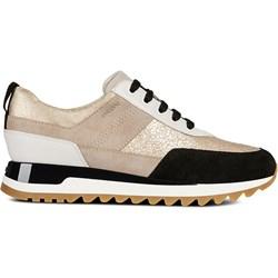9bcd3bf7ed1ca Geox buty sportowe damskie sznurowane brązowe bez wzorów ze skóry na  platformie