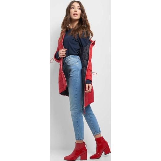 Czerwona kurtka damska ORSAY casual długa