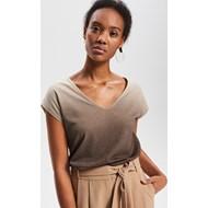 f255ac743370 Reserved bluzka damska z krótkim rękawem bez wzorów