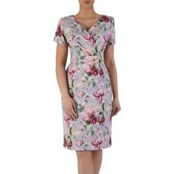 4ce375cd2e Wielokolorowe sukienki wizytowe kopertowe
