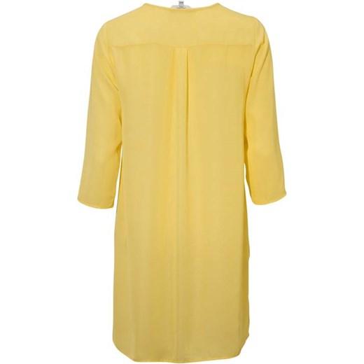 szyk Koszula damska Cellbes bez wzorów żółta z długimi
