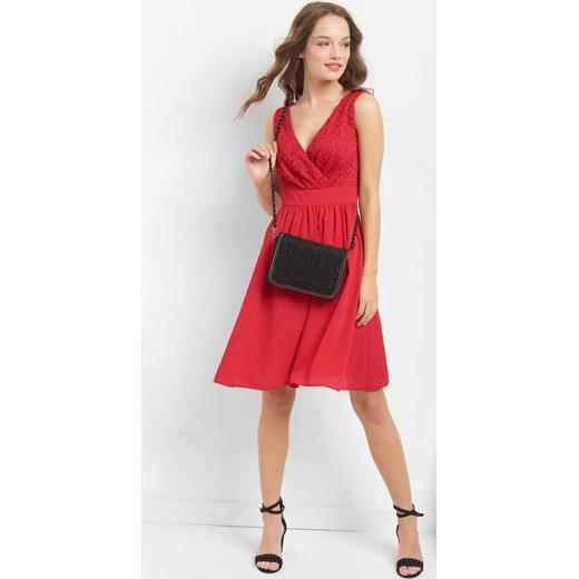 ee12e15de1 ... Sukienka ORSAY z tkaniny na ramiączkach na wesele midi  Sukienka różowa  ...