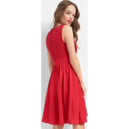 694a7ebfad ... wesele midi z tkaniny  Sukienka ORSAY na ramiączkach z dekoltem v