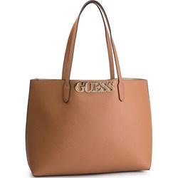 8ebb3c1e54ff7 Shopper bag Guess matowa mieszcząca a4 bez dodatków na ramię