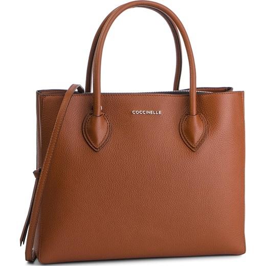 ec714f8ca2c1a Shopper bag Coccinelle brązowa do ręki matowa elegancka duża w Domodi
