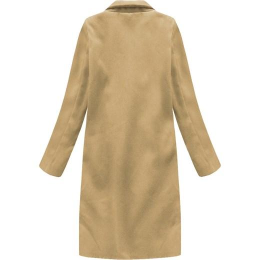 Płaszcz damski Italy Moda Odzież Damska PR beżowy Płaszcze