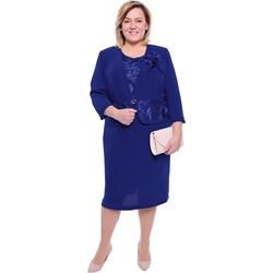 e6760ca24d Sukienka dla puszystych z długimi rękawami midi z okrągłym dekoltem