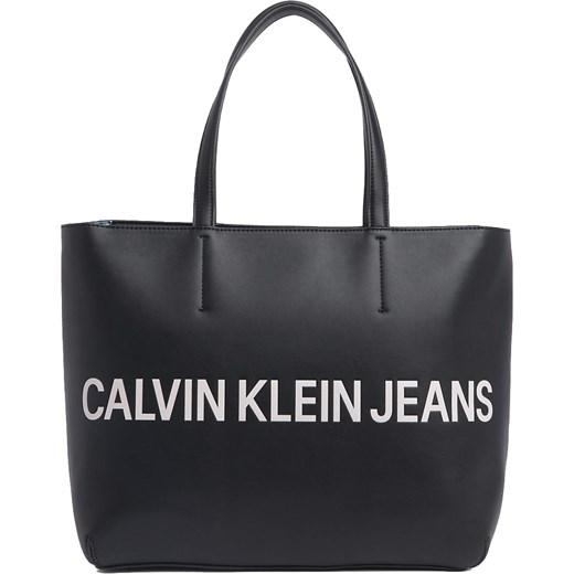 4846a6d874405 Shopper bag Calvin Klein w stylu młodzieżowym bez dodatków z nadrukiem