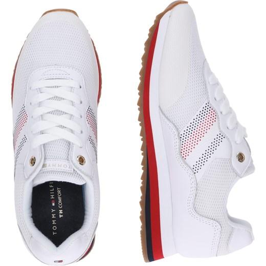 41b16fbcddc20 ... płaskie wiązane  Buty sportowe damskie Tommy Hilfiger sneakersy  młodzieżowe białe na wiosnę sznurowane płaskie ...