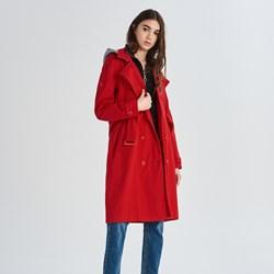 9aa10d775c26 Płaszcz damski czerwony Sinsay