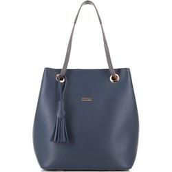 3eb41c19fce0c Shopper bag Wittchen z frędzlami ze skóry ekologicznej duża