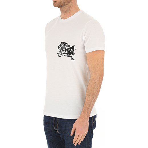 85c69ae86 T-shirt męski Burberry biały w Domodi