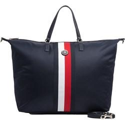 6d74fcde18172 Shopper bag Tommy Hilfiger matowa bez dodatków do ręki młodzieżowa duża