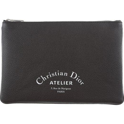 7d1a2bbff5fba Portfel męski Christian Dior bez wzorów  Portfel męski czarny ...