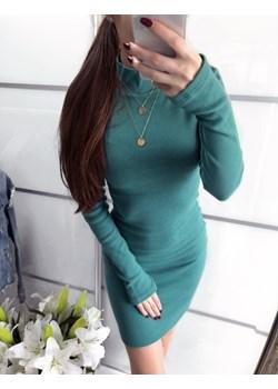 SUKIENKA LUCY MORSKA GOLFIK zielony  Yasmin Boutique - kod rabatowy