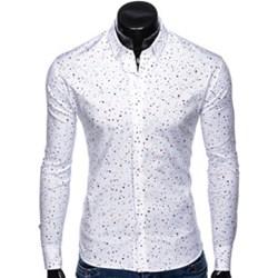 38ae78570 Koszula męska Ombre Clothing młodzieżowa z długim rękawem biała