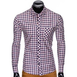 ab8359ec056b3 Fioletowe koszule męskie