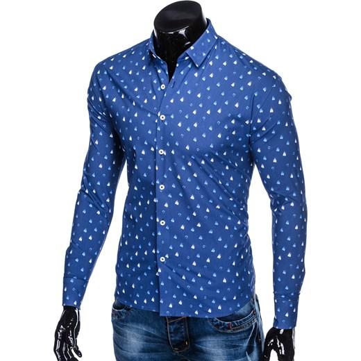 b90f6456f ... Koszula męska Ombre Clothing młodzieżowa z klasycznym kołnierzykiem ...