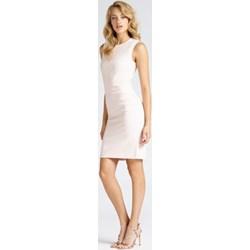 7e91680745 Biała sukienka Marciano Guess midi z okrągłym dekoltem