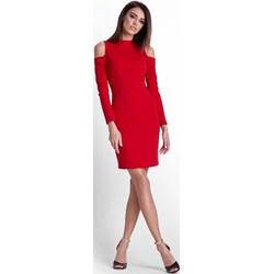 13ba6297aa Sukienka Ivon mini poliestrowa z długimi rękawami