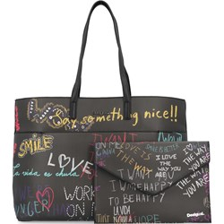 7ecb4fa7e54c0 Shopper bag Desigual na ramię duża młodzieżowa