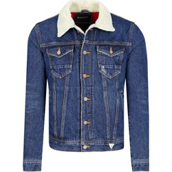 1856814517929 Kurtka męska niebieska Guess Jeans młodzieżowa