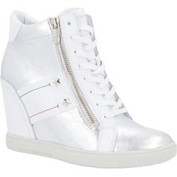 b57373ebc2471 Sneakersy damskie Tommy Hilfiger gładkie na koturnie