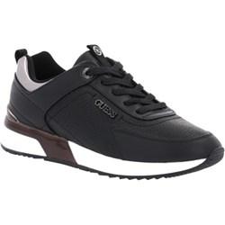 7ea10fc6a5dfc Czarne buty sportowe damskie Guess do fitnessu bez wzorów sznurowane