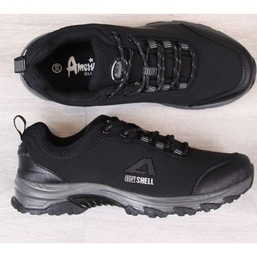 935504104a5c7 ... czarne sportowe płaskie; Buty trekkingowe damskie American Club płaskie  gładkie ...