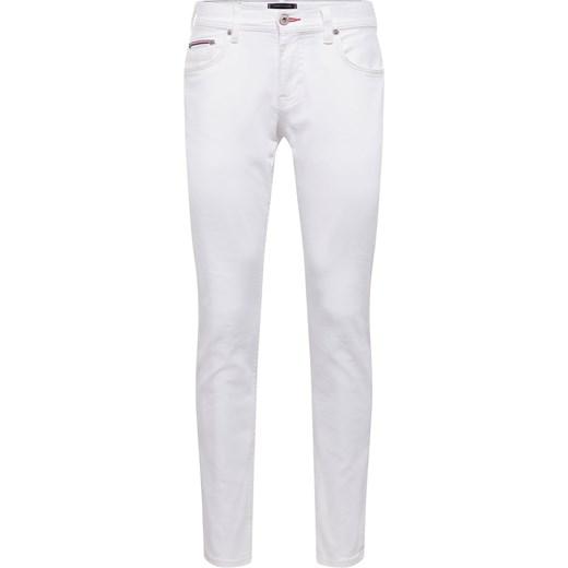 ea5a3f0b21ec3 Jeansy męskie Tommy Hilfiger białe z tkaniny w Domodi