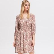 5d0c0ea691 Sukienka Reserved w stylu boho prosta z długimi rękawami