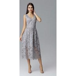 90c91693f6 Sukienka Global z dekoltem v elegancka midi