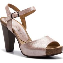 3b999f068dc9bf Sandały damskie różowe Nessi ze skóry eleganckie