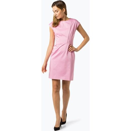 5f86b599a4493c Hugo Boss sukienka z okrągłym dekoltem z krótkimi rękawami na spotkanie  biznesowe wiosenna